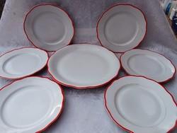 Zsolnay   tányérok  6+1  db