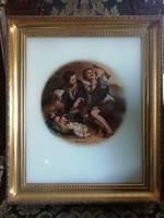 Barokk Murillo festmény képnyomata üvegre