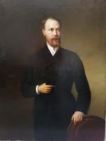 Jelzés nélkül: Nemes úr portréja 1850. körül , 127,5 cm. x 95,5 cm.!!!