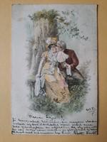Antik levelezőlap, képeslap, üdvözlőlap, 1903