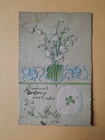 Antik dombornyomott levelezőlap, 1903