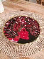 Hollóházi Vészabó Noémi exclusive porcelán tányér,tál,falidísz