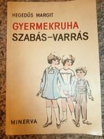Retro könyv Gyermekruha szabás-varrás Minerva 1966