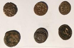 Római pénz gyűjtemény 6 db folis