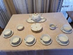Herendi cseresznyevirág mintás porcelán teás készlet