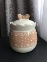 Masnis porcelán cukortartó sótartó fűszertartó