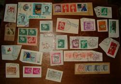 40 db külföldi bélyeg lapon szép NSZK Deutsche bundespost NSZK stb lot KIÁRUSÍTÁS 1 forintról