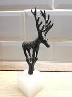Bronz Szarvas  figura szobor