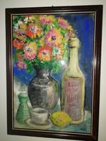 Vén Emil - Asztali csendélet,  1 forintos aukció, garanciával, nincs minimálár!