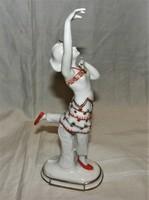 Ritka Régi Art Deco Táncosnő Ens Porcelán