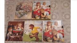 Retro Mecki sün puzzle.3 x 45 db.