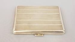 Régi ezüst dobozka, cigaretta tárca, névjegykártya tartó, doboz,