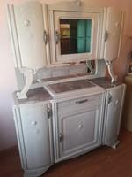 Felújított márványlapos tálaló szekrény