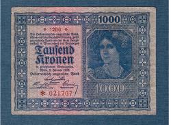 1000 Korona 1922 Osztrák - Magyar Bank VF