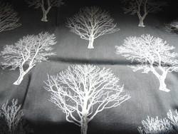 Sötétítő függöny párban szürke alapon krémszín fa mintás