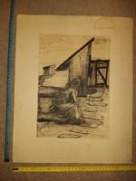 Tusrajz, szignós, 1981, XY.Nándor