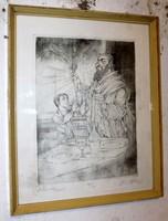 Kass János zsidó ünnep rézkarc 132