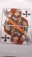 Francia kártya motívumos porcelán hamus 2.
