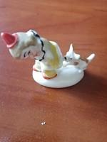 Bohóc kutyával figura