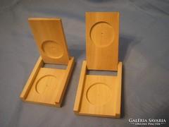 Érme kapszula tartók egyedi erős fából  nagy kapszula tartó belső átmérő 45 mm eladóak külön is