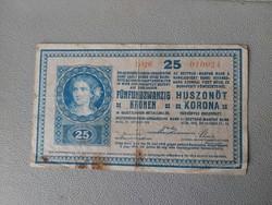 1919-es 25 Korona 3000 feletti sorozat szám