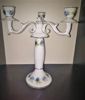 Hollóházi porcelán Pannónia Szedres 3 ágú gyertyatartó
