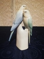 Eladó retró porcelán Hollóházi szines papagájok!