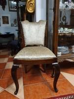 4 db restaurált antik kárpitos szék