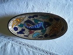 Eredeti kézműves halas kerámia
