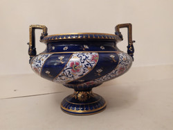 Antik francia porcelán sarreguemine kaspó tál