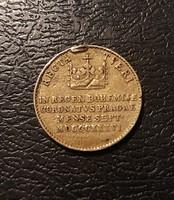V. Ferdinánd ezüst koronázási zseton 1836, fülnyomos.