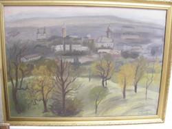 P. Kovács Ferenc  Nagybánya látképe olaj-vászon 70X100cm