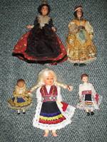 Antique, folk costume dolls for sale