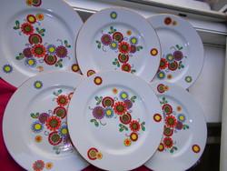 6 db Hennenberg Helena süteményes tányér együtt
