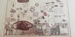 Szemethy Imre (1945-…) Absztrakt kompozíció a 70-es évekből