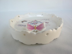 Vintage pillangós kerámia szappantartó
