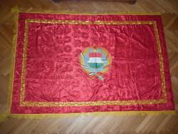 Hatalmas kádár címeres zászló 192 cm  MSZMP pártkongresszus 1970