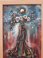 Egyedi festmény/dombormű 25x35cm