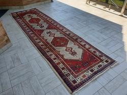 Iráni Hamadan 95x340 kézi csomózású gyapjú perzsa futó szőnyeg Kzm_21 ingyen posta