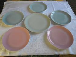 Színes Lilien nagyméretű tányér + 5 db lapostányér