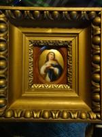 Madonna (festett porcelánkép)