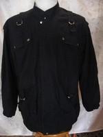Könnyű fekete retro, hipster felöltő, dzseki XL lengyel