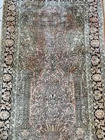 Kézi Csomózású Kashmiri Selyem Szőnyeg 95x155