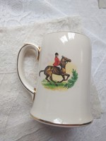 Sadler fajansz lovas/ló motívumos korsó