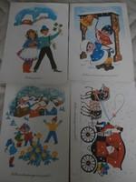 Retro üdvözlő lapok BÚÉK- Karácsony