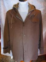 Hipster retro bélelt vászon drapp kabát