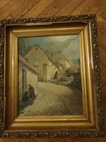 L. Kecskeméthy M. Eredeti Tabán 1932 festmény