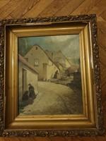 L. Kecskeméthy M. szignós Tabán 1932 festmény