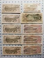 10db Osztrák schilling bankjegy egyben!