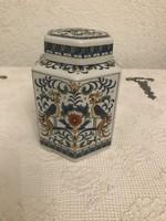 Kinai porcelan teafu tartó 14 cm magas 11 cm atmero